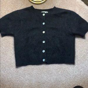 Vintage cropped black sweater